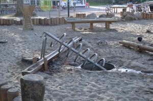 Wasserrad - Wasserspielplatz in Graal-Müritz