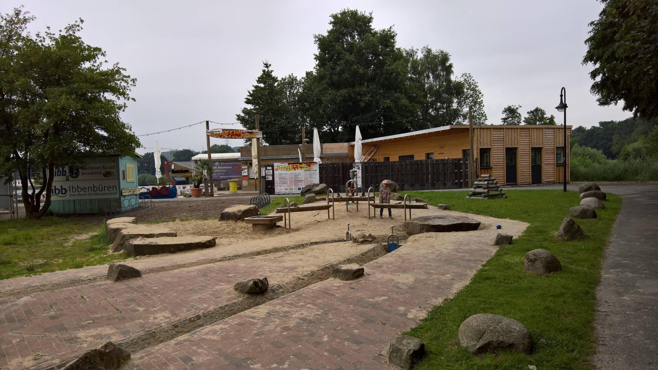Spielplatz Wasserspielpark Aasee in Ibbenbüren, Südufer
